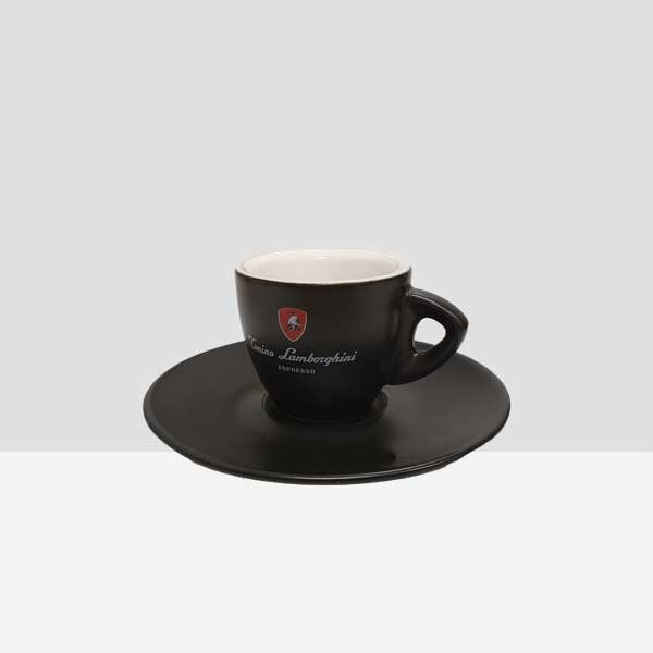 Black Espresso Cup & Saucer (box of 6)