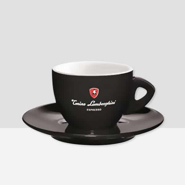 Black Cappuccino Cup  & Saucer (box of 6)