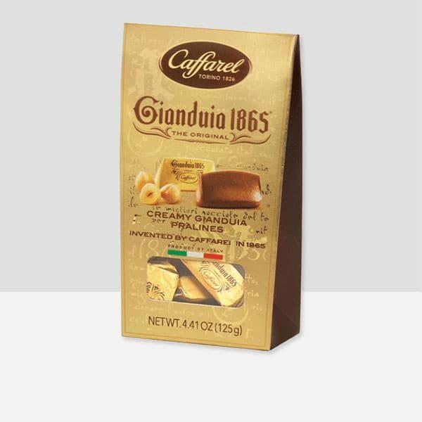 Gianduia ballotin (milk chocolate with hazelnut paste) chocolates.