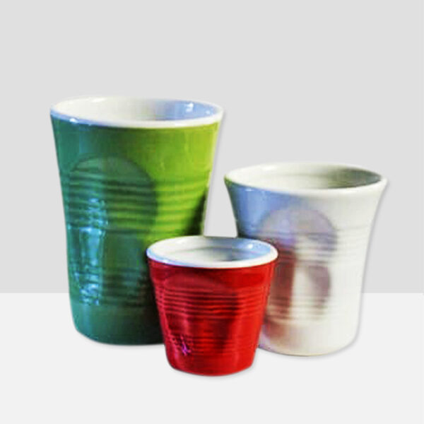 6 X squeezed glasses (3 sizes) mixed colours